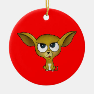 Cartoon Chihuahua Ornament