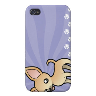 Cartoon Chihuahua (smooth coat) iPhone 4 Cases