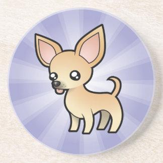 Cartoon Chihuahua (smooth coat) Sandstone Coaster