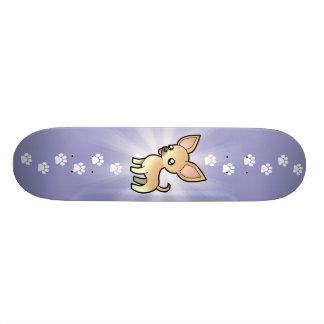 Cartoon Chihuahua (smooth coat) Skateboards