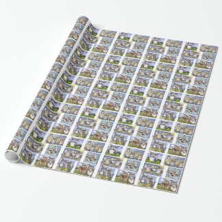 Cartoon Chinchillas Wrapping Paper