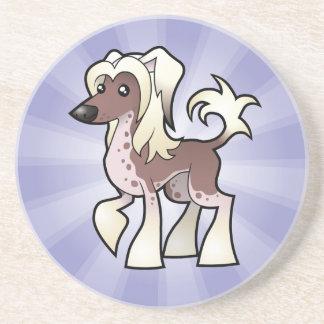 Cartoon Chinese Crested (hairless) Coaster