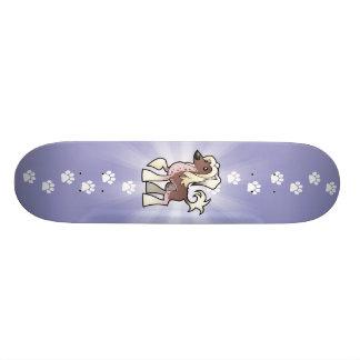 Cartoon Chinese Crested (hairless) Custom Skateboard