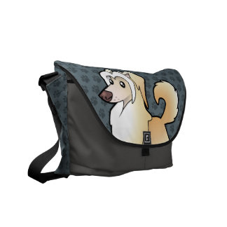Cartoon Chinese Crested (powderpuff) Courier Bags