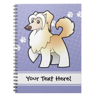 Cartoon Chinese Crested (powderpuff) Notebooks