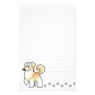 Cartoon Chinese Crested (powderpuff) Personalized Stationery