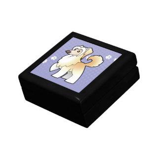 Cartoon Chinese Crested (powderpuff) Small Square Gift Box