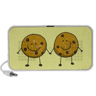 cartoon chocolate chip cookie best friends speaker