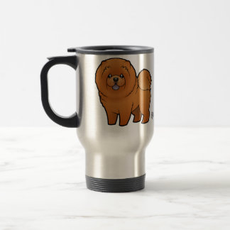 Cartoon Chow Chow Travel Mug