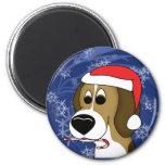 Cartoon Christmas Beagle Magnet