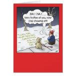 Cartoon Christmas Card: Steady Flow