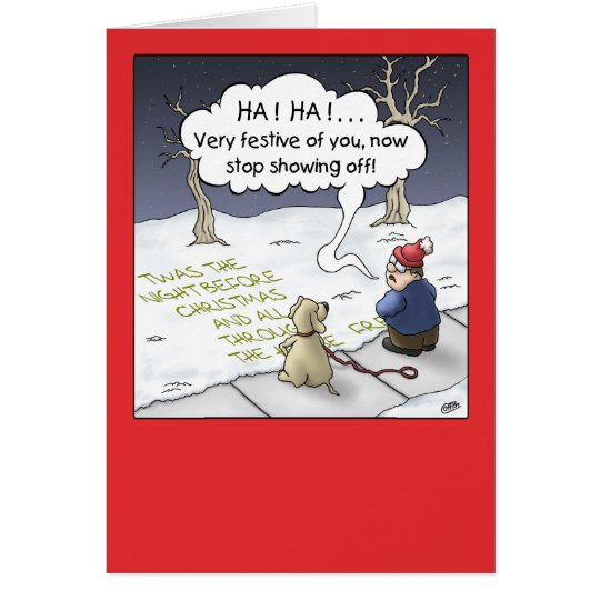 Cartoon Christmas Card: Steady Flow Card