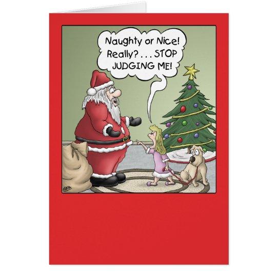 Cartoon Christmas Card: Stop Judging Card