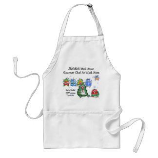 Cartoon Christmas Kiwi Funny Chefs Aprons