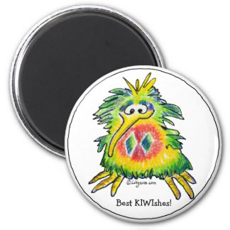 Cartoon Christmas Kiwi Magnet