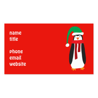Cartoon Christmas Penguin Pack Of Standard Business Cards