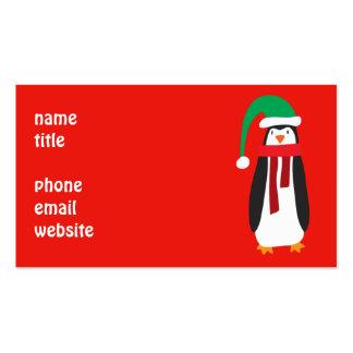 Cartoon Christmas Penguin Pack Of Standard Business Cards