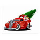 Cartoon Christmas Pickup Postcard