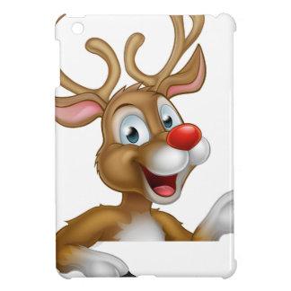 Cartoon Christmas Reindeer Character Case For The iPad Mini