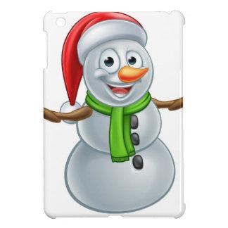 Cartoon Christmas Santa Hat Snowman iPad Mini Case