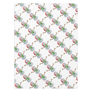 Cartoon Christmas Santa Hat Snowman Tablecloth