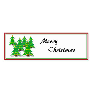 Cartoon Christmas Tree Forest Business Card Templates