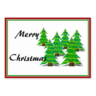 Cartoon Christmas Tree Forest Business Card Template