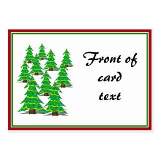 Cartoon Christmas Tree Forrest Business Card Template