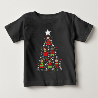 Cartoon Christmas Tree Kids Cute Holiday T-shirt