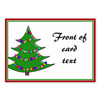 Cartoon Christmas Tree Pack Of Chubby Business Cards