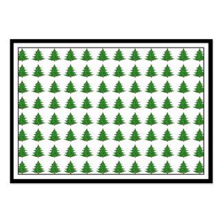 Cartoon Christmas Tree Pattern Business Cards