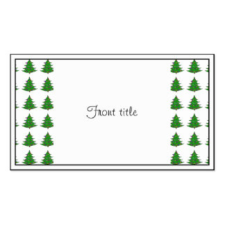Cartoon Christmas Tree Pattern Pack Of Standard Business Cards