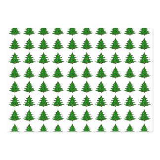Cartoon Christmas Tree Pattern Business Card