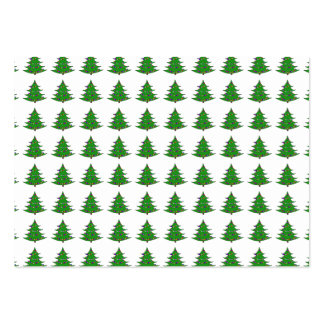 Cartoon Christmas Tree Pattern Business Card Templates
