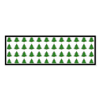 Cartoon Christmas Tree Pattern Pack Of Skinny Business Cards