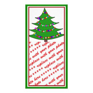 Cartoon Christmas Tree Photo Card Template
