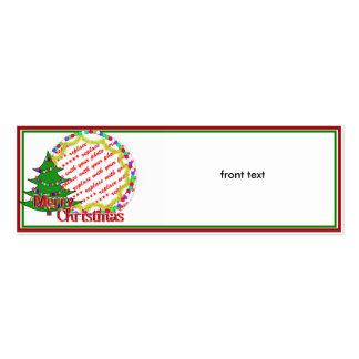 Cartoon Christmas Tree Photo Frame Business Card Template