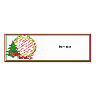 Cartoon Christmas Tree Photo Frame Pack Of Skinny Business Cards