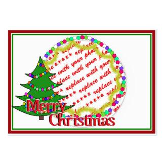 Cartoon Christmas Tree Photo Frame Business Cards