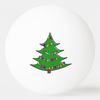 Cartoon Christmas Tree Ping Pong Ball