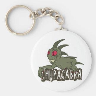 Cartoon Chupacabra Basic Round Button Key Ring