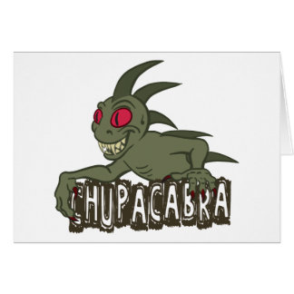 Cartoon Chupacabra Card