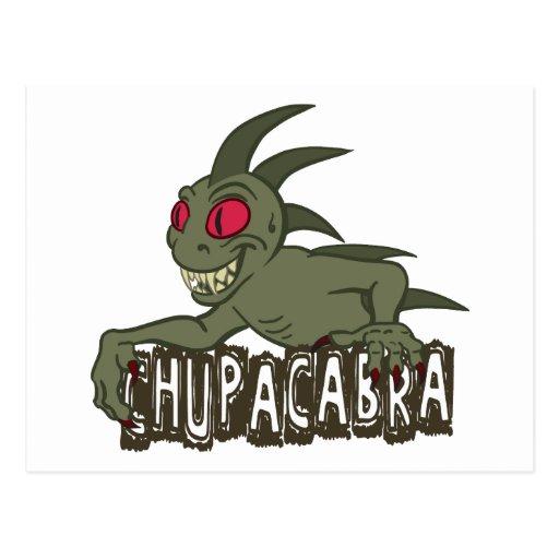 Cartoon Chupacabra Post Cards