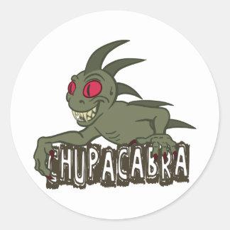 Cartoon Chupacabra Round Sticker