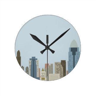 Cartoon Cincinnati Round Clock