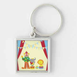 Cartoon Circus Clown and Animals Premium Keychain