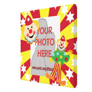 Cartoon Circus Clown kids Photo wrapped canvas Stretched Canvas Prints