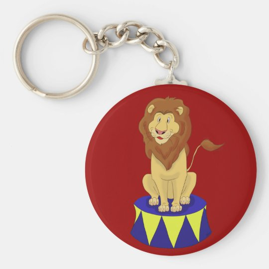 Cartoon Circus Lion Keychain