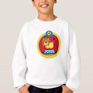 Cartoon Circus Lion on Podium Sweatshirt