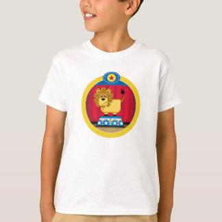 Cartoon Circus Lion on Podium T-Shirt